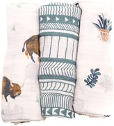 Little Unicorn Cotton Muslin Swaddle Blankets - Bison - 3 ct