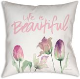 Life is Beautiful Florals Square Indoor/Outdoor Throw Pillow