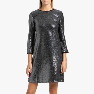 Liu Jo Sequined Shift Dress with Long Sleeves