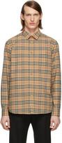 Burberry Beige Check George Shirt