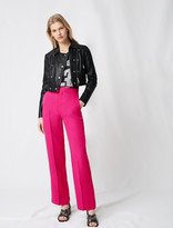 Maje Short leather jacket with asymmetric zip