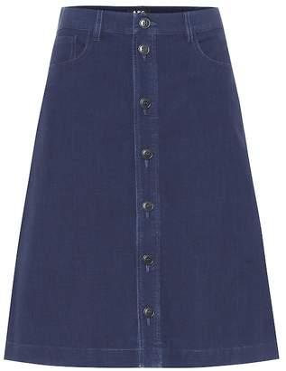 A.P.C. Therese denim midi skirt