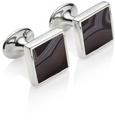 Monica Vinader Men's Alta Black Onyx Square Cuff Links