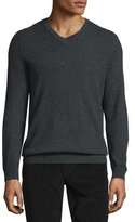 Vince Cashmere V-Neck Sweater, Heather Shadow