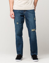 CHARLES AND A HALF Indigo Destructed Mens Slim Straight Jeans