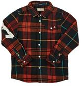 "Scotch Shrunk Men's ""Shrunk""-Taped Plaid Cotton Flannel Shirt-RED, GREEN, NO COLOR"