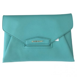 Givenchy Antigona Turquoise Leather Clutch bags