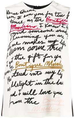 Moschino text print vest top