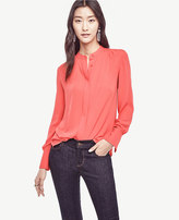 Ann Taylor Shirred Blouse