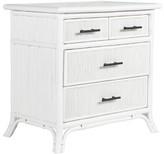 David Francis Furniture Bermuda 4 Drawer Bachelor's Chest Color: White/Black