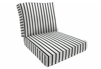 "Eddie Bauer Sunbrella Lounge Chair Cushion Fabric: Lido Indigo, Size: 5"" H x 23"" W x 24"" D"
