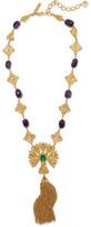 Oscar de la Renta Gold-Tone Stone Necklace