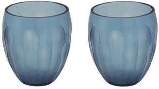 "Aspen Creative Corporation Aspen Creative Blue Glass Votive Candle Holder 3-1/2"" Diameter x 4"" Height, 2 Pack"