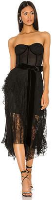 Alice + Olivia Bree Ruffle Dress
