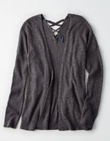 American Eagle Outfitters AE Lace-Up-Back Cardigan