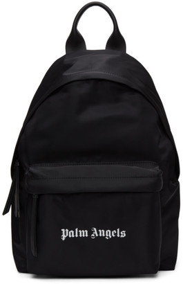 Palm Angels Black Nylon Logo Backpack