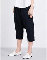 Jil Sander Dropped-crotch wide high-rise wool trousers