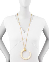 "Kenneth Jay Lane Tusk Necklace, 32""L"