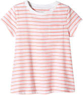 Joe Fresh Toddler Girls' Stripe Boxy Tee, Coral (Size 3)