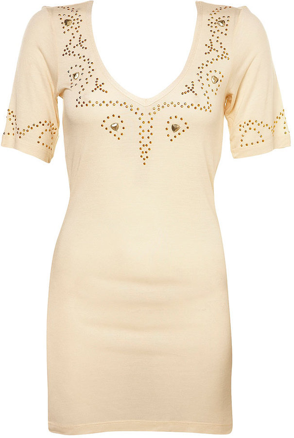Topshop Stud Placement Tunic Tee