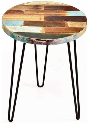 Welland Taylor Side Table Reclaimed Wood, Round