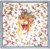 Alexander McQueen Butterfly-print modal and silk-blend scarf