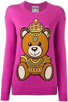 Moschino bear intarsia jumper - women - Cotton - S
