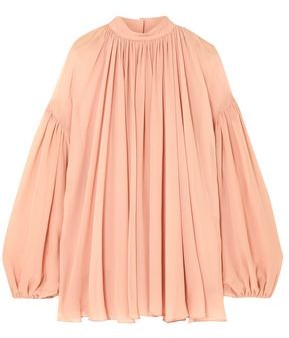 Stella McCartney Tanya Gathered Silk-georgette Blouse