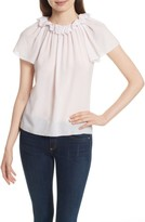 Rebecca Taylor Women's Ruffle Neck Silk Top
