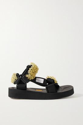Suicoke Cecilie Bahnsen Maria Embellished Canvas Sandals - Black