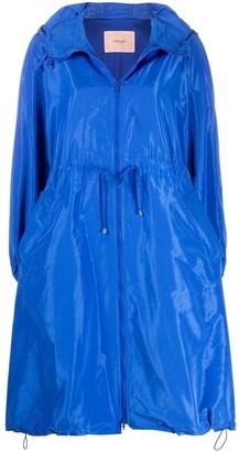 Twin-Set Flared Oversized Raincoat