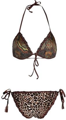 Anjuna Carina mixed-print bikini