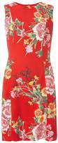 Dorothy Perkins Red Oriental Print Fit And Flare Dress