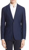 Armani Collezioni Men's Trim Fit Textured Stretch Knit Sport Coat