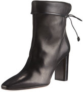 The Row Emil Leather Tie-Back Boot, Black