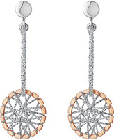 Links of London Sterling silver and 18ct rose gold vermeil dream catcher drop earrings