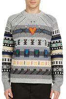 Kenzo Fairisle Knit Wool Sweater