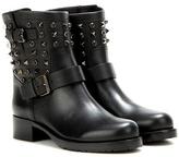 Valentino Garavani Rockstud Rolling Noir leather ankle boots
