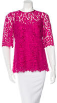 Dolce & Gabbana Lace Short Sleeve Blouse
