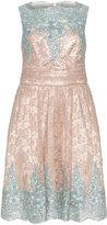 Ariella Plus Size Lace sequin cocktail dress
