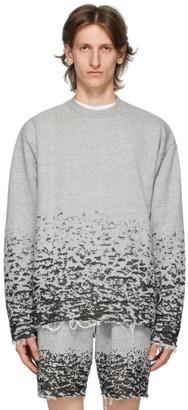 John Elliott Grey Burn Out Sweater