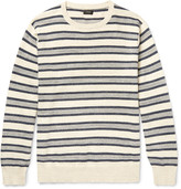 J.crew - Striped Mélange Knitted Cotton Sweater