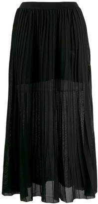 Sonia Rykiel Pleated Pull-On Skirt