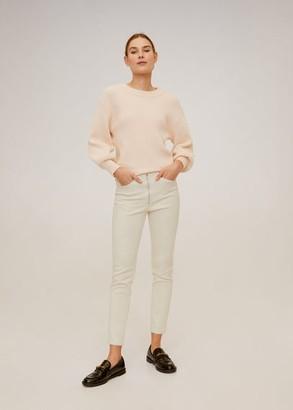 MANGO Zip-pocket slim-fit pants ecru - 1 - Women