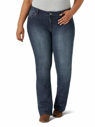Wrangler Women's Plus Size Western Mid Rise Boot Cut Jean