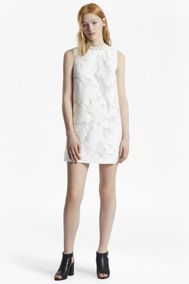 French Connection Deka Cotton Embroidered Mini Dress