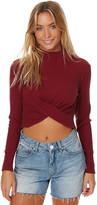 Rusty Sky Twist Womens Longsleeve Top Red