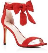 AVEC LES FILLES Women's Jax Suede Bow High Heel Sandals