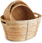 Napa Home And Garden Set Of 3 Cane Rattan Oval Baskts