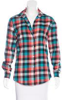 Les Prairies de Paris Checkered Long Sleeve Shirt